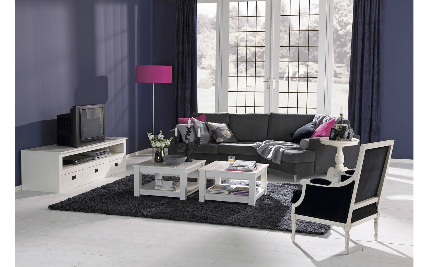 tv bank valence wei mdf kopen goossens. Black Bedroom Furniture Sets. Home Design Ideas