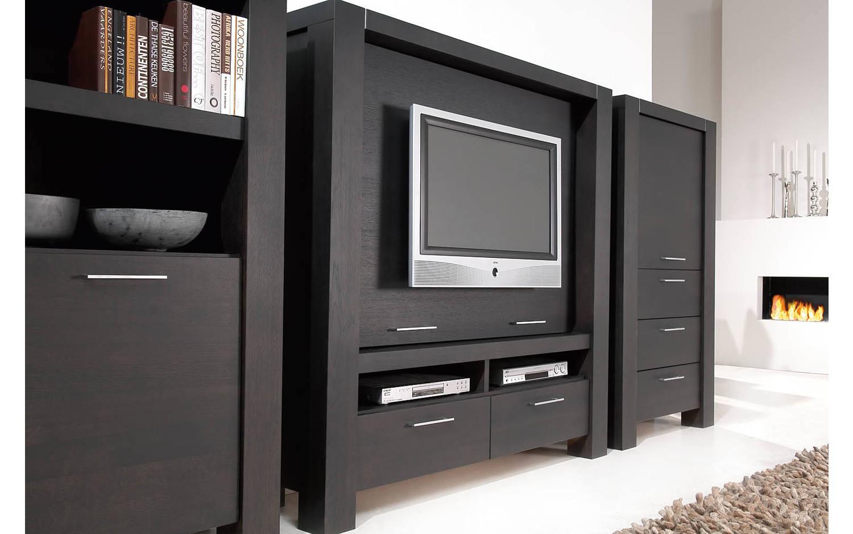 tv bank cielo grau eiche kopen goossens. Black Bedroom Furniture Sets. Home Design Ideas