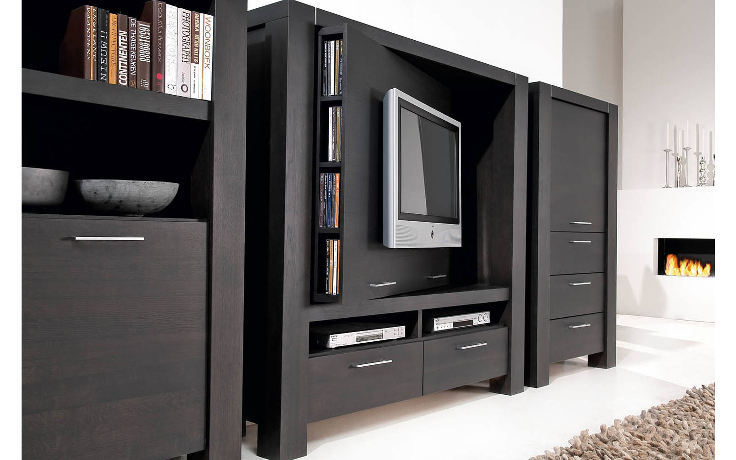 tv bank cielo grau eiche kopen goossens. Black Bedroom Furniture Sets. Home Design Ideas