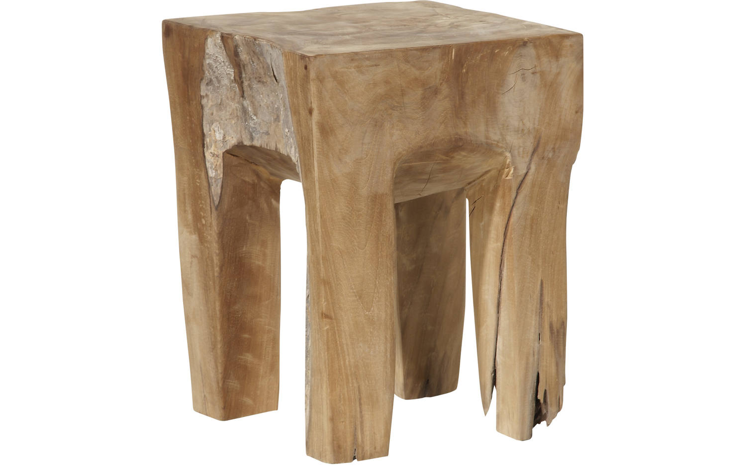 Hocker square unbehandelt teak - 8101137