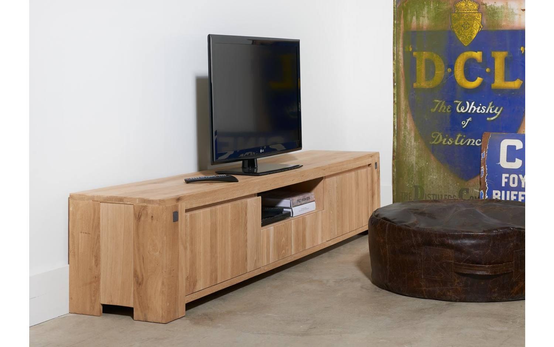 Eikenhout Tv Meubel : Tv meubel bold unbearbeitet eiken kopen goossens