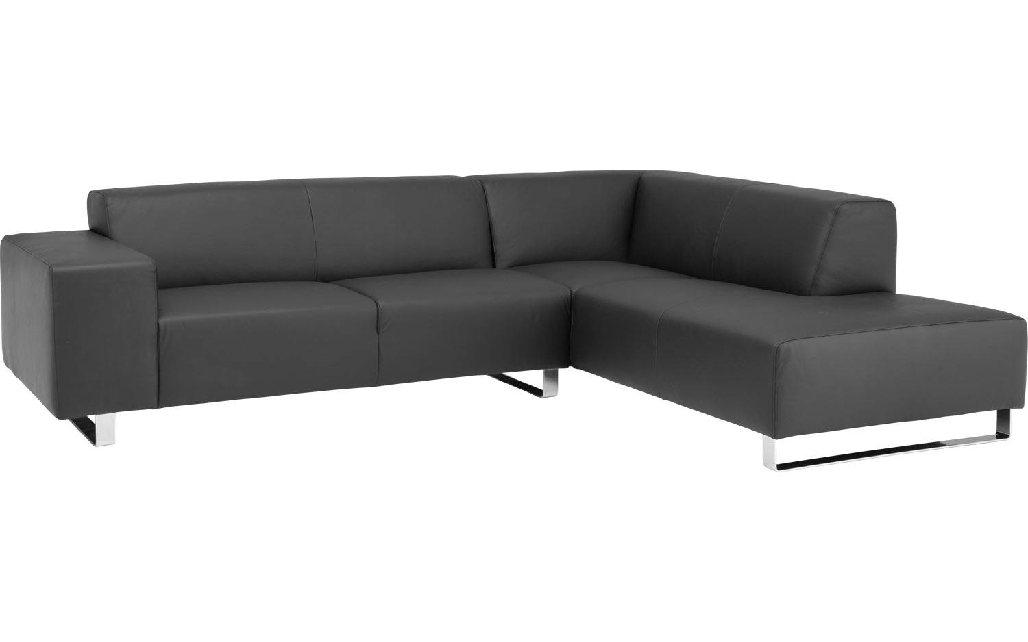 Ecksofa Design At Home Schwarz Leder Kopen Goossens