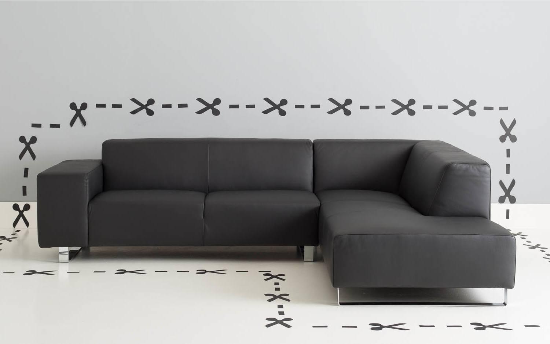 Ecksofa design home schwarz leer kopen goossens