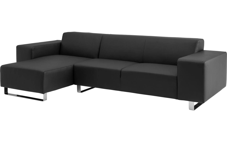 Chaise Longue Leer : Ecksofa design home schwarz leer kopen goossens