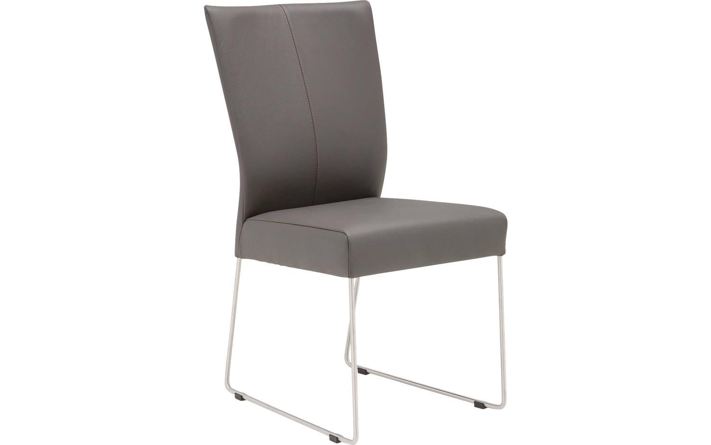esszimmerstuhl slight grau leder kopen goossens. Black Bedroom Furniture Sets. Home Design Ideas