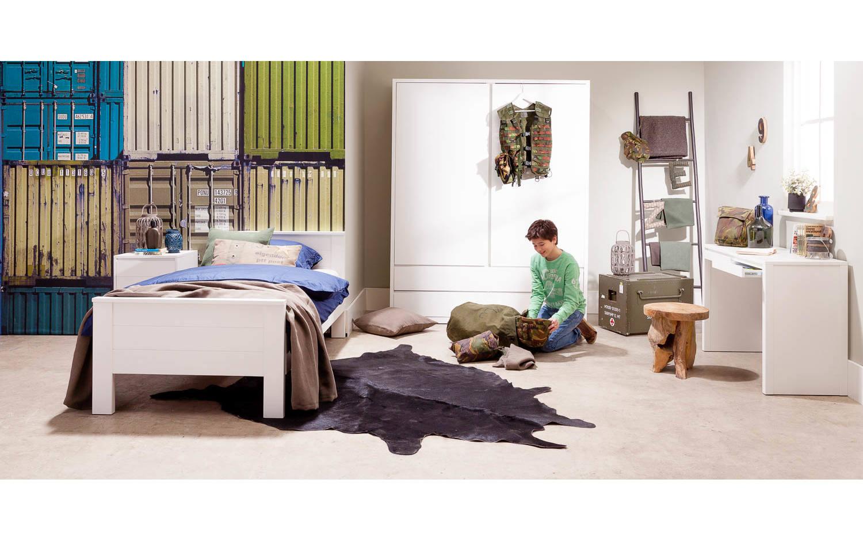 schlafzimmerschrank abel grau eiken kopen goossens. Black Bedroom Furniture Sets. Home Design Ideas