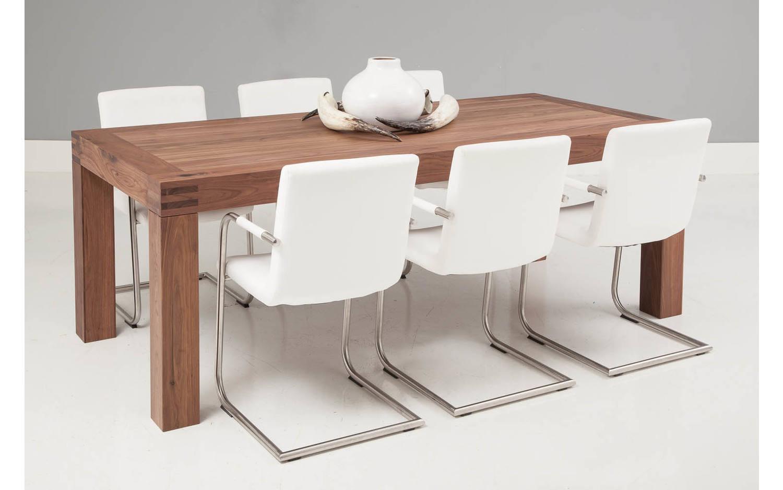 esstisch clear nussbaum noten kopen goossens. Black Bedroom Furniture Sets. Home Design Ideas