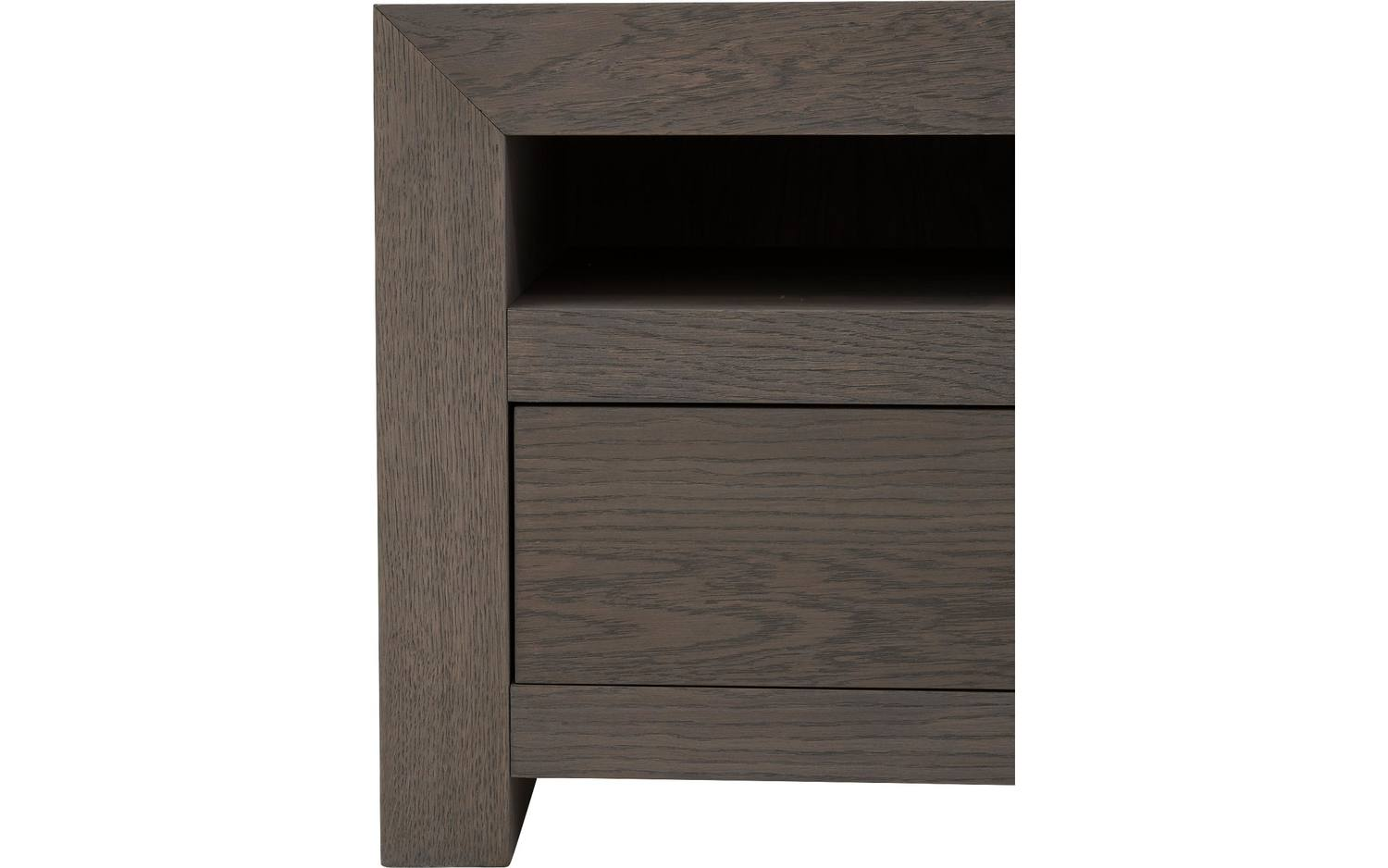 tv anrichte break grau eiche kopen goossens. Black Bedroom Furniture Sets. Home Design Ideas