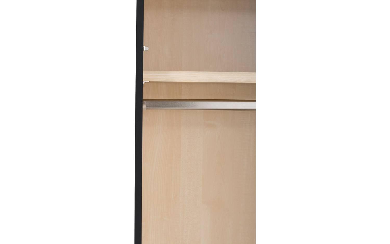 schlafzimmerschrank clark schwarz mdf kopen goossens. Black Bedroom Furniture Sets. Home Design Ideas