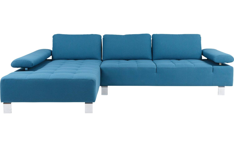 Ecksofa alvin blau stoff kopen goossens for Ecksofa hellblau
