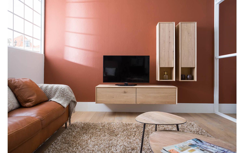 Licht Eiken Meubelen : Tv meubel palmira light van cm breed in de kleur licht eiken