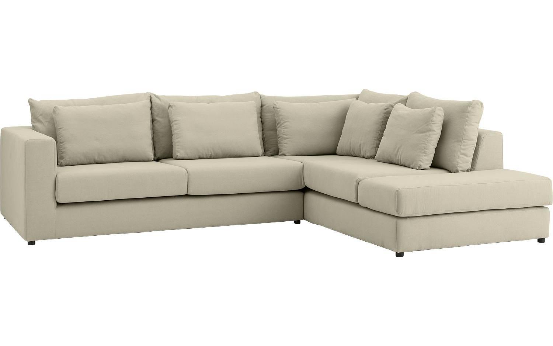 ecksofa rover wei stoff kopen goossens. Black Bedroom Furniture Sets. Home Design Ideas
