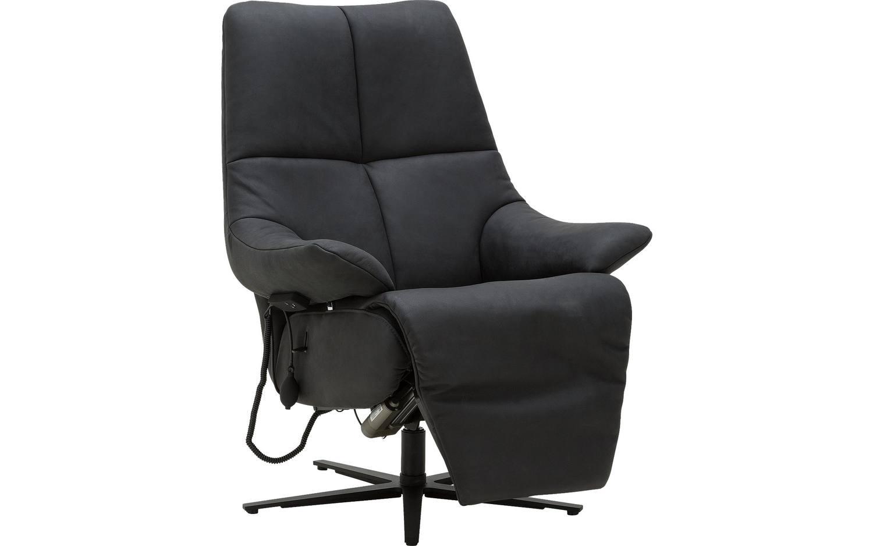 Relaxfauteuil Leder Elektrisch.Relaxsessel Genua Relaxsessel Schwarz Leder Kopen Goossens