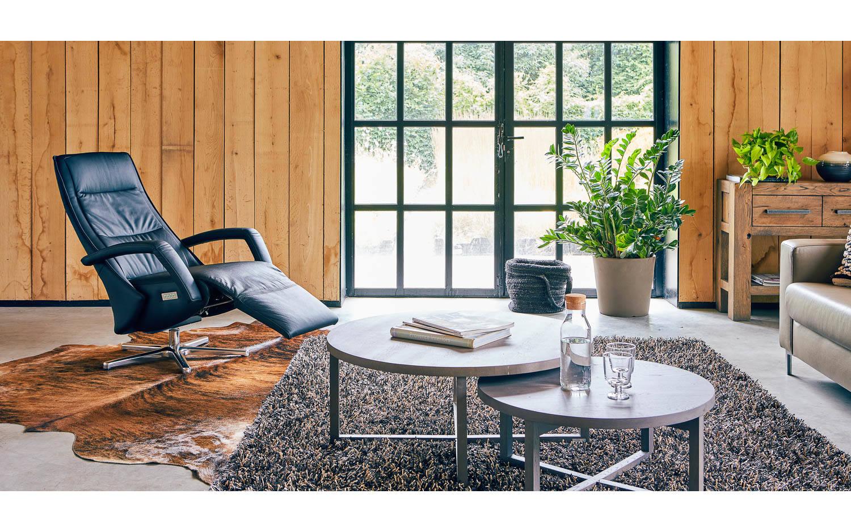 Relaxsessel de luxe serie schwarz leder kopen? goossens