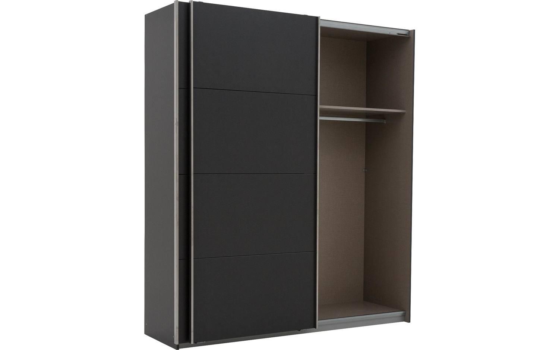 Kleiderschrank Miami Mit Spiegeltur Grau Hochwertige Mobelplatte