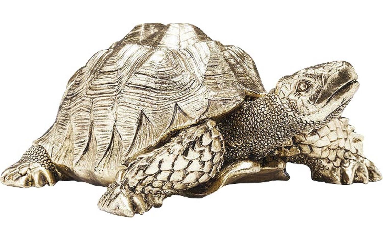 Decoratie deco turtle gold polyresin kopen? goossens