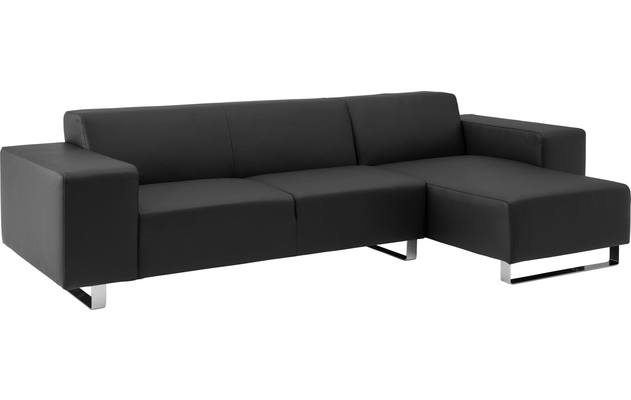Ecksofa Design@home Schwarz Leer kopen? | Goossens on chaise furniture, chaise recliner chair, chaise sofa sleeper,