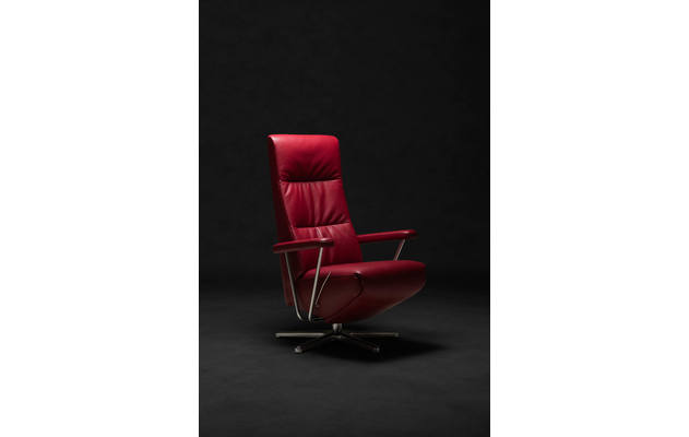 Relaxfauteuil mansion 01 rood leer - 8170576-01