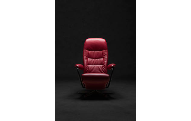 Relaxfauteuil mansion 02 rood leer - 8170577-01