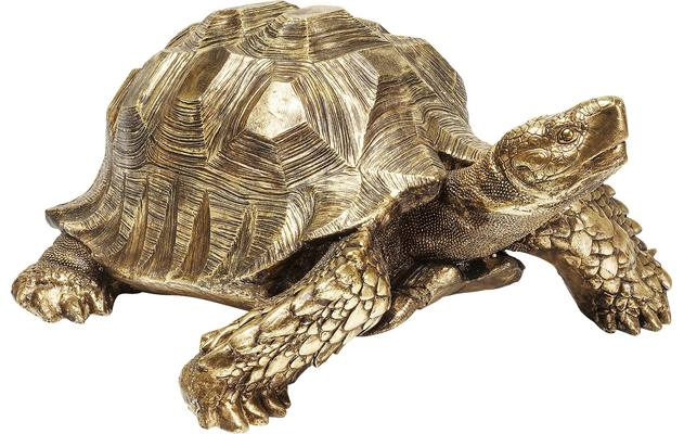 Decoratie deco turtle gold polyresin - 8171999-01