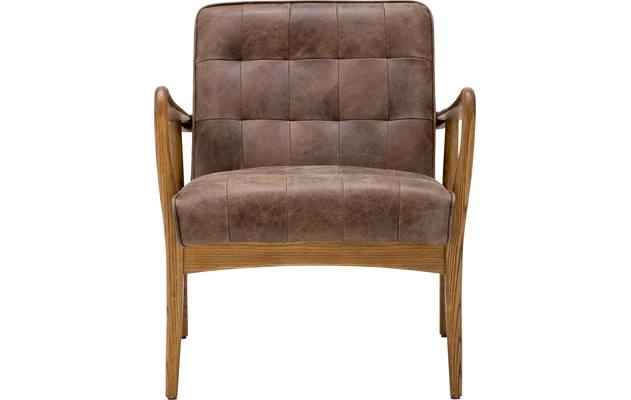 Fauteuil toulouse bruin leer - 8180096-01