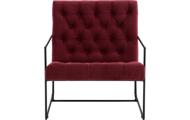 Goossens fauteuil arend rood stof - 8193959-1