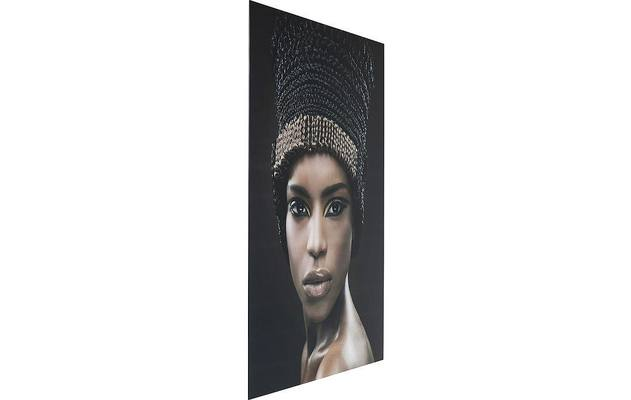 Kare design wanddecoratie glass royal headdress zwart glas - 8195476-02